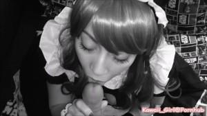 Maid Service. Cosplay Blowjob