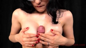 Handjob with Oil Breast Play