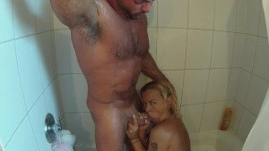 Getting Fucked In The Shower and Organisming While He Blows His Load In Me