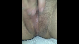 My hot puerto rican touching her wet pussy