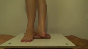 Barefeet Cockcrushing, Standing Full Weigh On Cock-balls, Stomping On Cock2