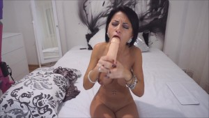 Anisyia Livejasmin gagging hard on huge cock