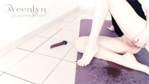I Leaked on the Floor! - No time to finish masturbating :(