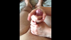 Penis massage with cumshot