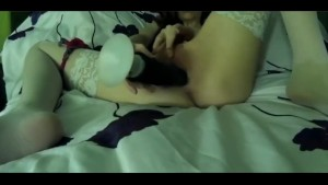 Roomate caught masturbating with toys - homemade - Laura Fatalle