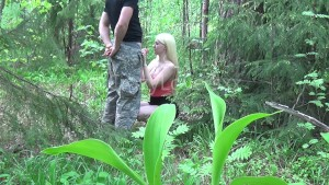 Blond Giving Blowjob To Her Boyfriend In Nature - CrazyLoversxx