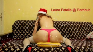 Step sister humping pillow like fucking Santa Clause - Laura Fatalle