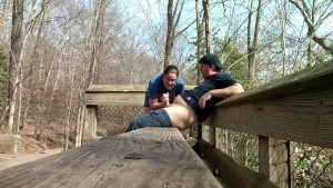Amateur couple ALMOST caught fucking at the park...
