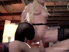 Johnny Sins & Kissa Sins rough squirting fuck and best creampie EVER