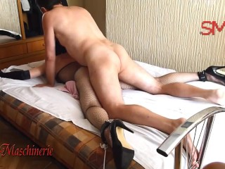 Brutal whipping fucking and monster dildo pussy destroying tied gagged sl