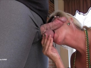 Horny mom goes wild mega squirting creampie surprise...