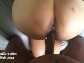 Wife getting that bbc creampie...